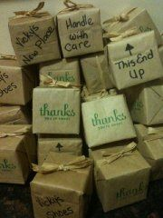 Cute Moving Box Favors For Housewarming Party