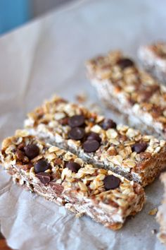 Give Me Some Energy Granola Bars (No Bake)