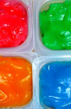 Cook your own homemade FINGER paint! 1/2 cup cornstarch   ■ 3 Tbsp. sugar   ■ 1/2 tsp. salt   ■ 2 cups cold water   ■ food coloring