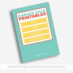 Organising a successful garage sale, plus the ultimate garage sale printables pack