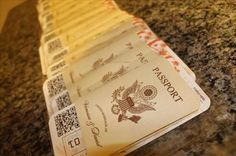 Here are our Passport Wedding Invites and Boarding Pass RSVP cards!!