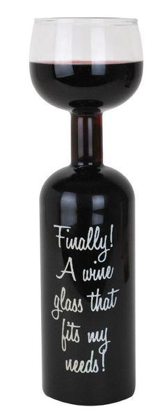 Wine Bottle Glass, $14. It's perfect.