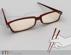 chopsticks glasses!