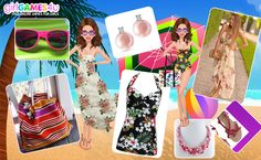 Hello #girls! Are you ready to #fab up the #beach? *** #Game's link: http://www.girlgames4u.com/cindy-at-the-beach-makeover-game.html ✿ ✿ ✿