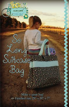 Child Suitcase Bag Tutorial w/ FREE pattern: Lilac Lane by Melissa Stramel: Art Gallery Fabrics Giveaway and A Free Pattern
