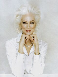 Carmen Dell'Orefice...this gorgeous creatures is in her 80s!! Gives us all something amazing to look forward to....