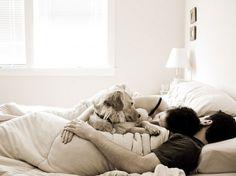 family snuggle.