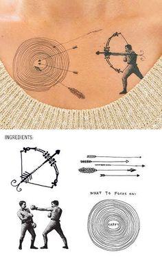 Bull's-eye | 22 Insanely Clever Temporary Tattoo Hacks