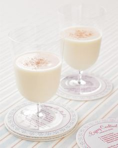 signature drink eggnog cocktail