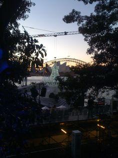 Bridge. Opera House. Summery sunset. Giant bling. Check. Hello Sydney.