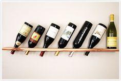 DIY Wood plank wine rack