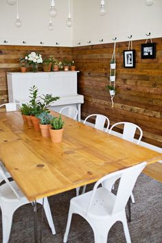 DIY Stained Wood Wall Tutorial from A Beautiful Mess