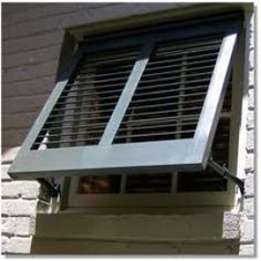 Awning shutter over the bathroom window?