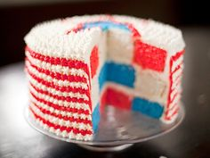 Red, White and Blue Velvet Cake from CookingChannelTV.com