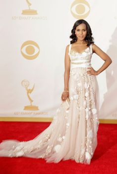 Oh Kerry. Perfect red carpet style that could be worn for a wedding! #celeb #wedding #dress
