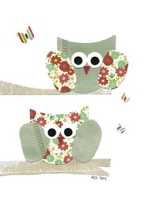 Two Owls in a Tree Nursery Artwork Print Baby Room Decoration Kids Room Decoration Gifts 20 print wall art sail away with me on Etsy, $14.00