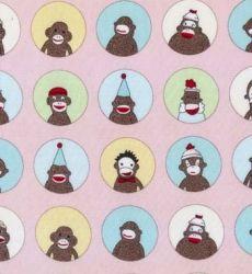 Funky Monkey Circles on Pink