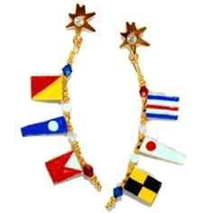 I'm obsessed with Lunch at the Ritz jewelry... ship flag, lunch