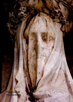 Graveyard Photography  Dark Art  Cemetery Statue  by Daggerdollco, $30.00