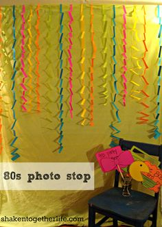 another photo booth backdrop idea
