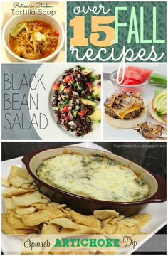 Over 15 Fall Recipes #recipes #fall #linkparty #features