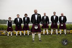 For those of celtic heritage; this is a pretty cool look for wedding attire...men wear the tartan of their home county in Ireland (for Matt that could be Cork, Kerry and Wexford). (Definitely a unique way to honor one's heritage)