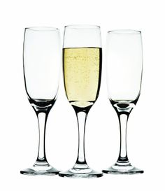 CIRCLEWARE NORMANDY 4-PIECE CHAMPAGNE FLUTE SET - 6 OUNCE