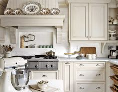 Pretty white kitchen - decorating simply for fall
