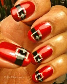 Santa nail art.