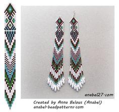 Beaded earrings scheme - mosaic weaving
