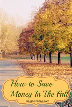 How to Save Money in the Fall