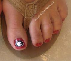 georgia bulldogs nails, ga bulldog