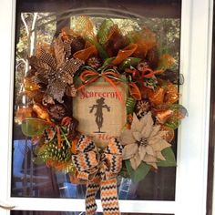 Fall deco mesh wreath fall wreath autumn wreath by WreathsEtc