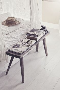rustic + beachy coffee table