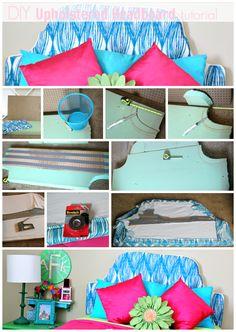 DIY Upholstered Headboard tutorial