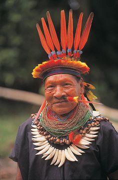 Amazonia, Ecuador Shaman.