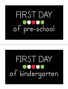 first day of school picture freebies