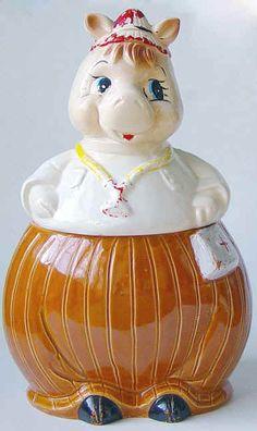 An antique 1950s doctor cookie jar