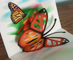 3D Pop up Butterfly card any occasion by CardNotions on Etsy, $4.50
