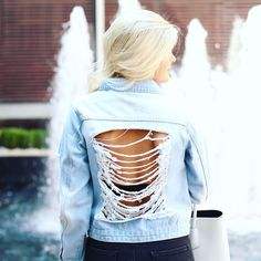 Denim, Ripped Jacket