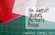 summer vacations, travel bags, activities for kids, travel activ, road trips, activity bags, kid travel, finger puppets, car trips