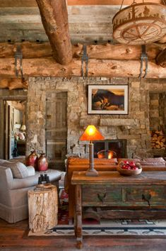 I adore log cabins and open beams.