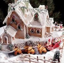 Santa's workshop (he is in the sleigh