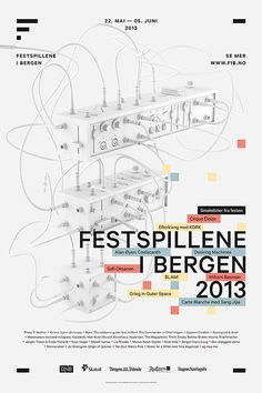 Part of the visual identity for the Bergen International Festival.