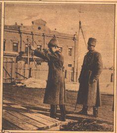 Alexei plays with bow n arrow at Tobolsk.