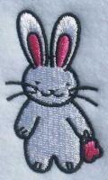 "Cute little Bunny Rabbit Embroidery Design.    Size: 2.31"" x 1.34"" bunni rabbit, rabbit embroideri"