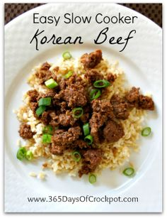 Recipe for Easy Slow Cooker Korean Beef #crockpot #easydinner