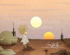 """in a far far away galaxy..."" (by *moonchildinthesky on deviantART)"