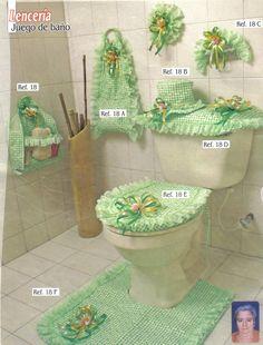 Juegos de baño en tela toalla