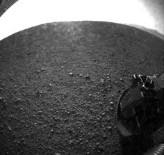 Mars Curiosity Rover sends one of it's first pictures back to the earth